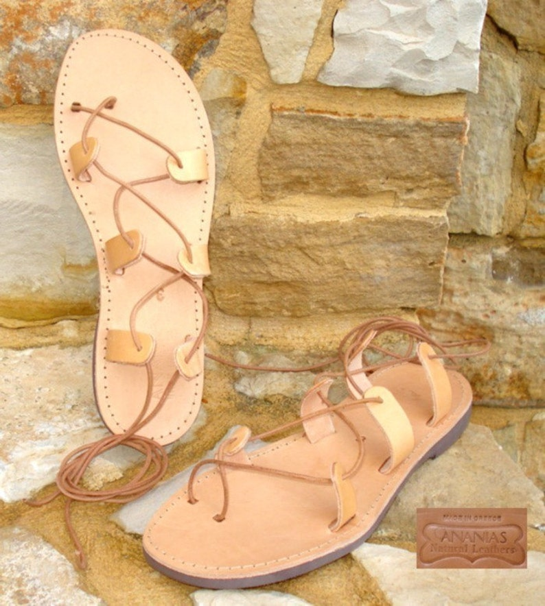dd9fb097855a Grecian handmade leather sandals for men from Greece