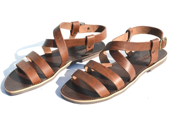 Roman Handmade Style Sandals Leather For Greek Men New On0Pkw