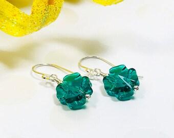 52d94e59c Shamrock Crystal Earrings - Lucky Clover Jewelry - St. Patrick's Day  Earrings - Irish Pride Gift - Lucky Girl Jewelry - Good Luck Earrings