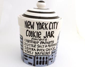 New York City Cookie Jar by Lorrie Veasey formerly of Our Name is Mud