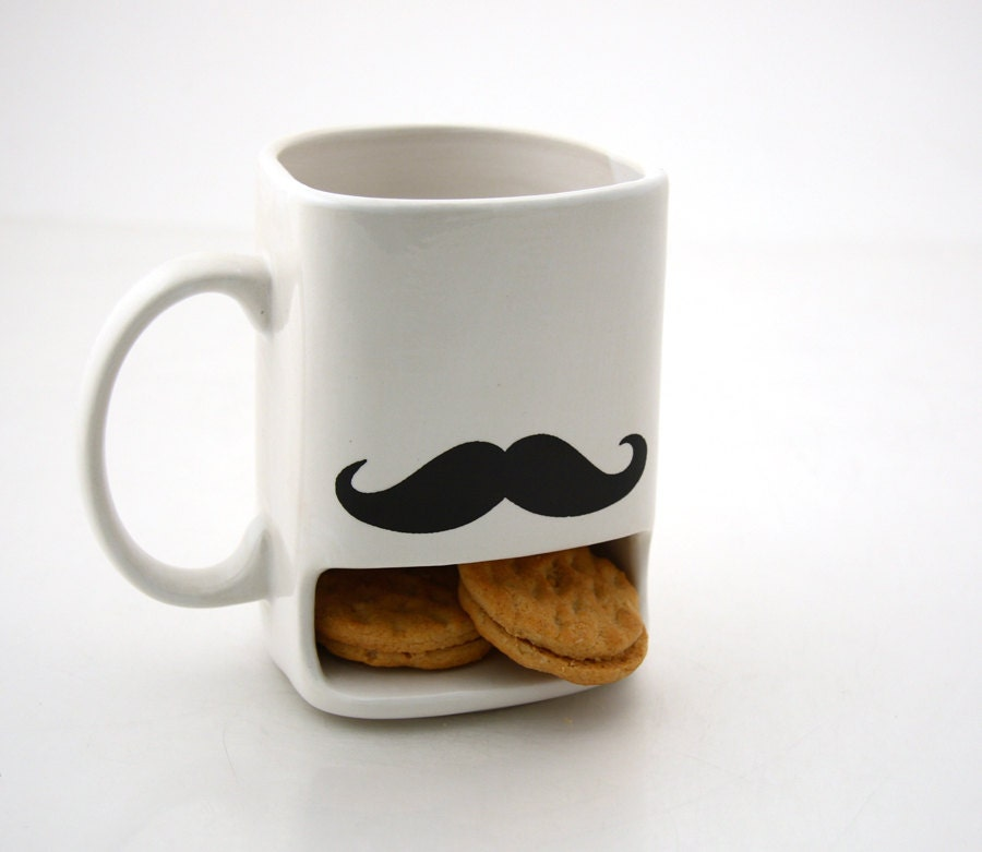 Mustache moustache cookie dunk mug