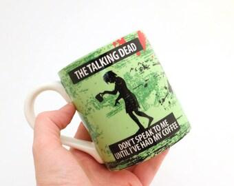 Zombie mug, great gift for Walking Dead Fan, The talking dead, zombie serum, gift for her, gift for mom