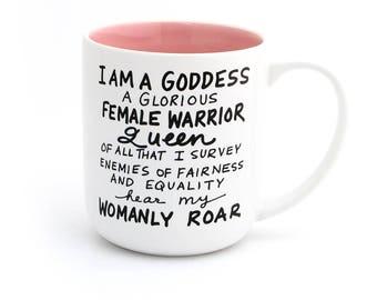 Parks and Recreation mug, parks and rec mug, large mug with Handle, pawnee goddess, leslie knope, resist mug, female  empowerment- oath