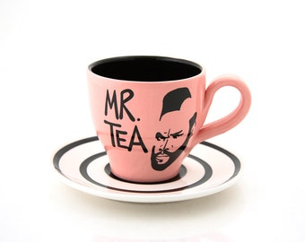 Mr. T Tea Teacup and Saucer pink