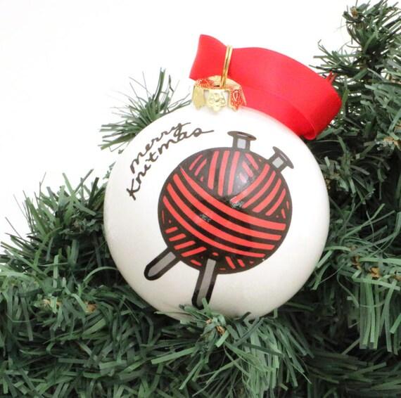 image 0 - Christmas Ornament For Knitter Ball Of Yarn Merry Knitmas Gift Etsy