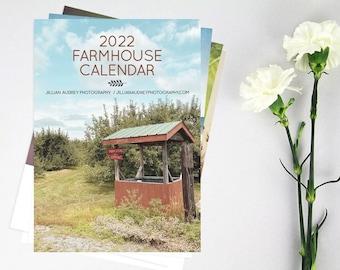 2022 Calendar, Farmhouse Photography, Rustic Rural Barn Calendar, Barn Print, Desk Calendar, Nature Calendar, New England, Farm Style