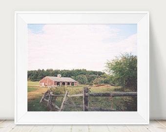 Farm Photograph, Barn Photograph, Film Photograph, Dreamy Natural Landscape, Fall Autumn Art Print, New England, Scenic Art Print