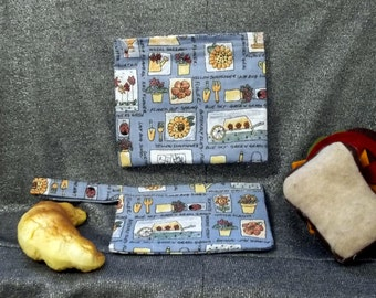 Reusable Sandwich N Snack Bag Set,  Gardening Tools Print