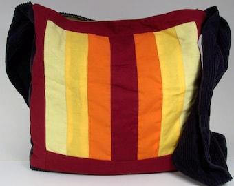 Red Rainbow Stripe Bag