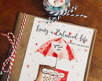 MAILED KIT - February 2018 LDS Visiting Teaching Kit/Handout - Living a Balanced Life