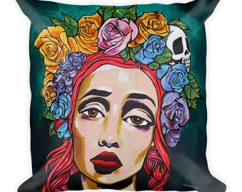 Rose Crown Square Pillow