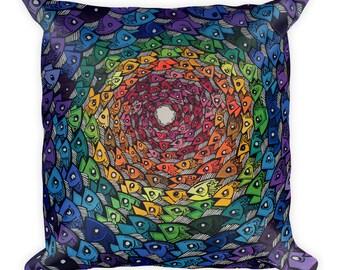 Rainbow Trout Square Pillow