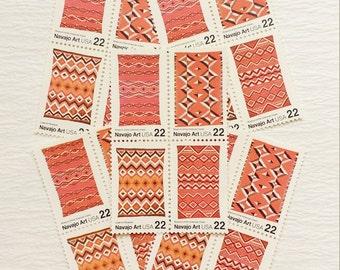 Navajo Art .. UNused US Vintage Postage Stamps