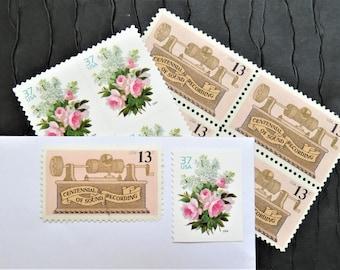 Romance .. Vintage UNused Postage Stamps .. to post 5 letters