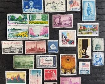 Washington DC Photo Shoot / Keepsake Package .. UNused Vintage Postage Stamps