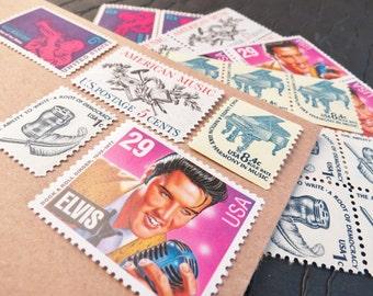 American Music .. UNused Vintage Postage Stamps  .. post 5 letters