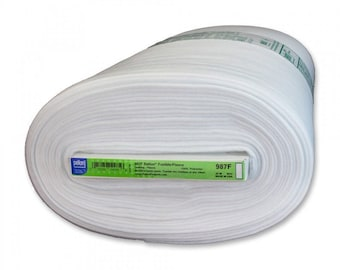 """Pellon Fusible Fleece 987F, quilting interfacing 45"""" wide, iron-on white washable lofty interfacing by the yard"""