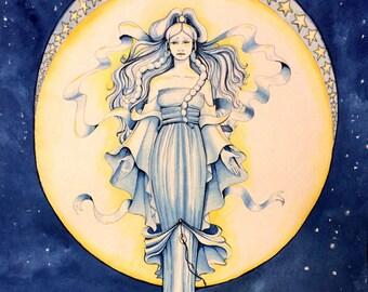 Yue in Art Nouveau (Print)