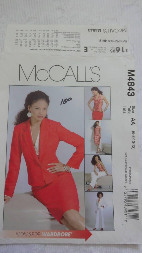 6325 Vintage Butterick Sewing Pattern Misses Jacket Split Skirt Top UNCUT Easy