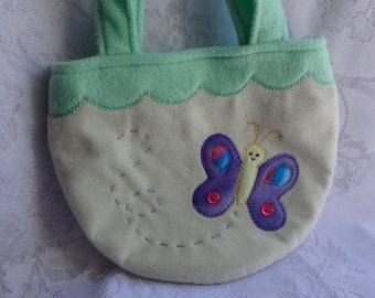 Butterfly Purse, Butterfly Bag, Toddler Girl Children Purse, Kids Purse, Bag, Child Purse, Girls Purse, Treat Bag