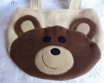 Teddy Bear Purse, Brown Bear Bag, Toddler Girl Children Purse, Kids Purse, Treat Bag, , Girls Purse, Bear Purse, Brown Teddy Bear Purse