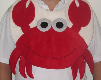 Adult Crab Bib, Adult Bib, Clothing Protector, Men and Women Adult Bib, Adult Animal Bib