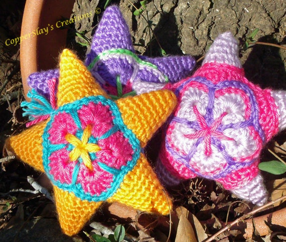 Crochet Star Pattern Amigurumi Star Applique Star Ornament Etsy