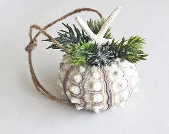 BEACH CHRISTMAS ornament, seashell ornament, starfish ornament, coastal ornament, Christmas ornament