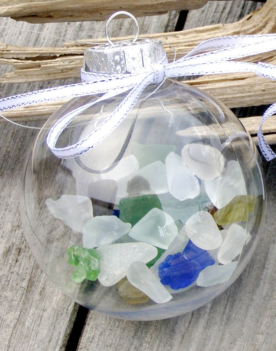 BEACH DECOR CHRISTMAS Sea Glass Ornament nautical ornament