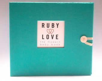 BABY BOOK   Solid Teal Album