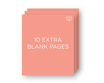 10 Extra Blank Pages | Additional Baby Book Page Pack