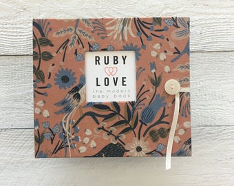BABY BOOK | Rifle Paper Co. Peach Folk Birds Album