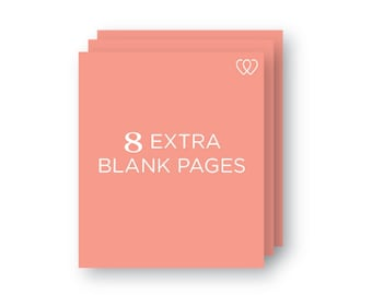 8 Extra Blank Pages   Additional School Years Book Page Pack