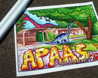"APAAS 2016 Dinosaurs Galore poster 16"" x 20"""