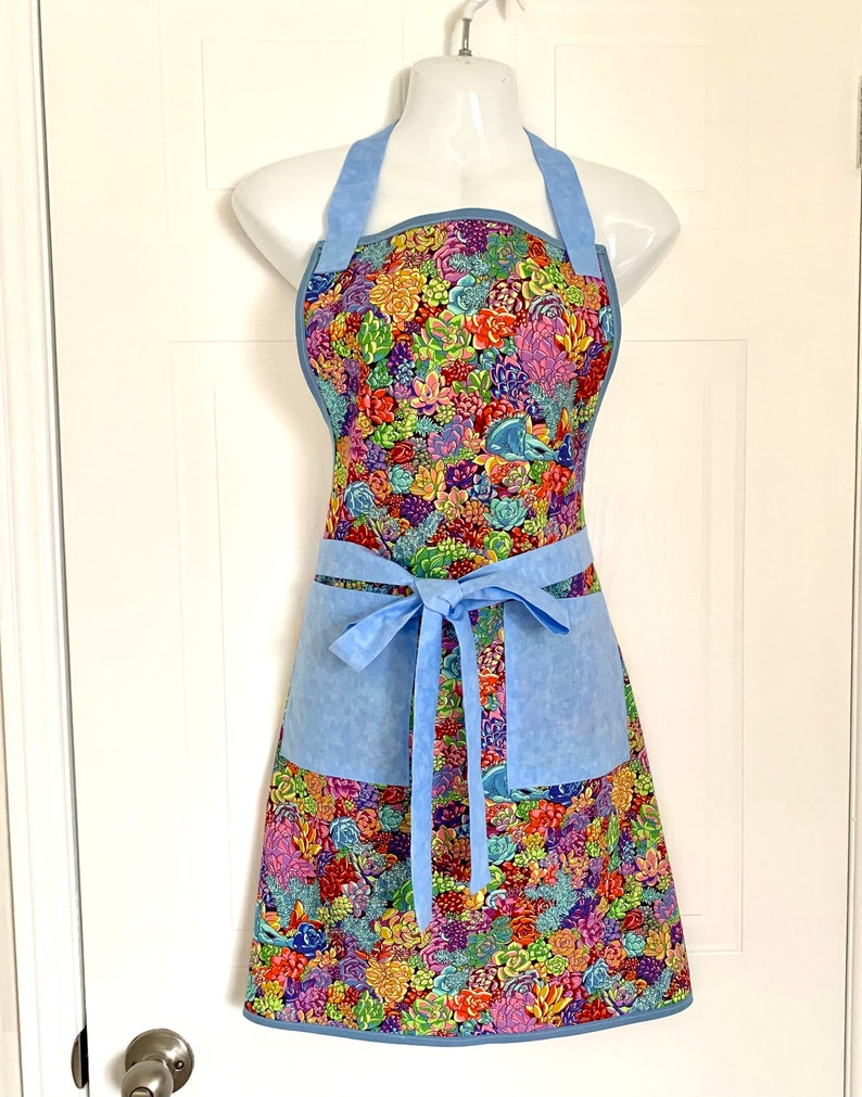 Women*Mystical*blue*Horse*Apron*Handmade* Kitchen*Cooking*Mother/'s Day*Gift**Garden*Crafts*Paint*Baked*Ready to Ship*