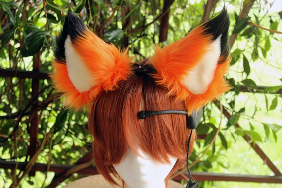 "USA Made NECOMIMI Custom Ears SLEEVES /""Covers Only/"" Choose Your Favorite Colors"