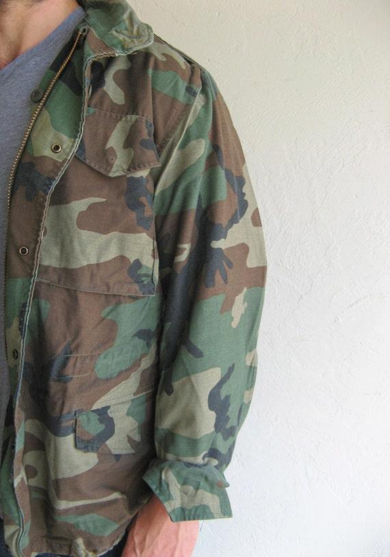 Camouflage Military Camo Print Vintage Winter Jack