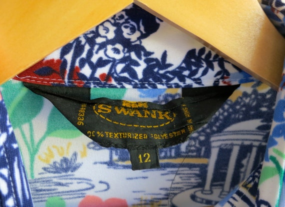 40% OFF PANDEMIC SALE Blue Floral Print Retro Vin… - image 4