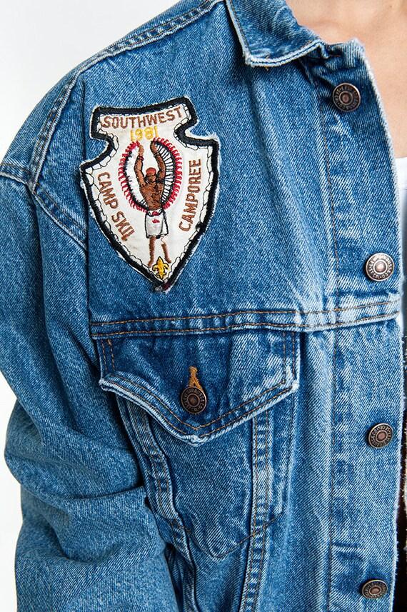 The Vintage Summer Camp Patched Denim Jacket