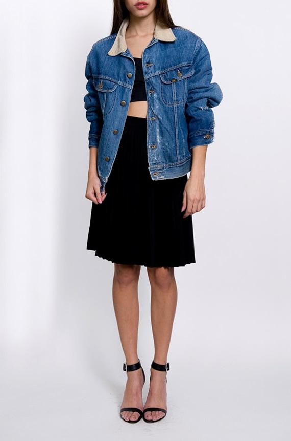 Lee Denim Vintage Corduroy Collar Distressed Jean