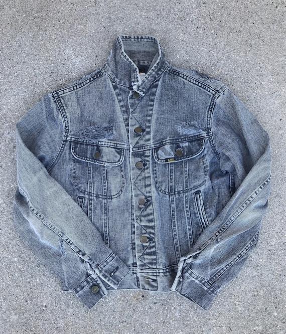 Lee Jeans Vintage Distressed Light Gray Abraded De