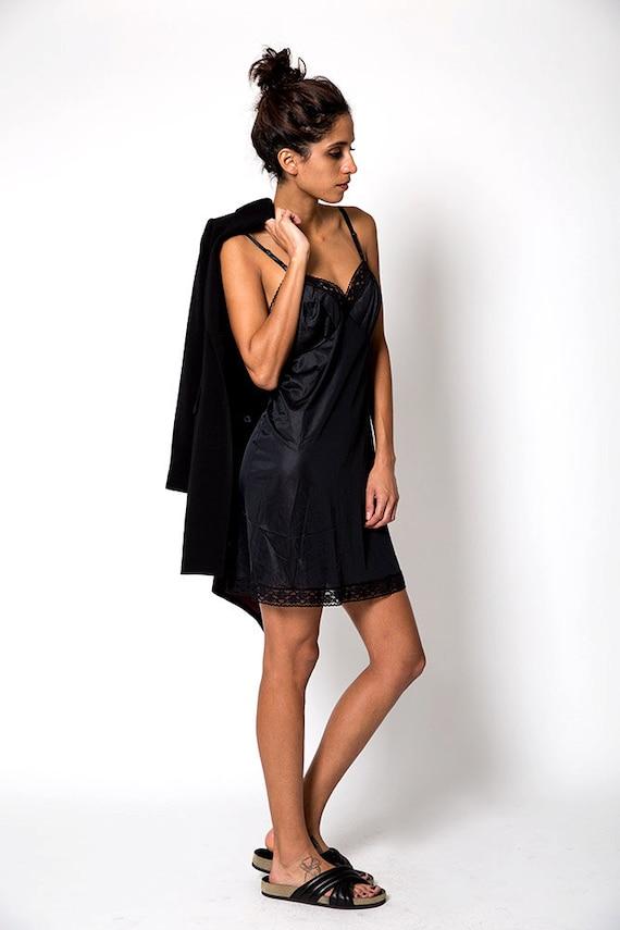 The Vintage Little Black Slip Dress - image 3