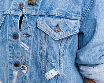 The Vintage Levi's Brand Smitten Patched Denim Jacket