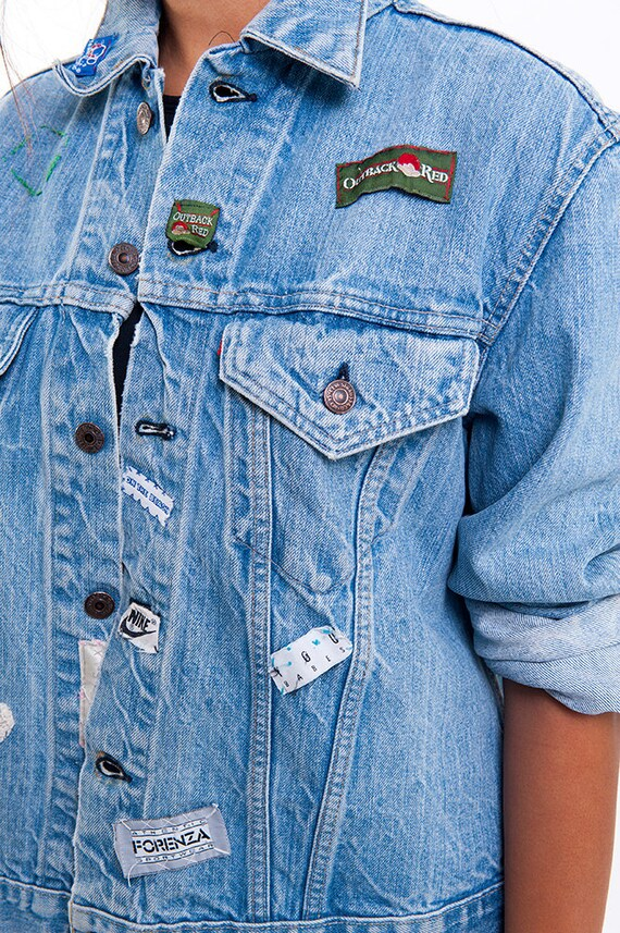 The Vintage Levi's Brand Smitten Patched Denim Jac