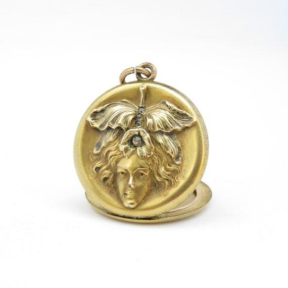Victorian Medusa Locket; Victorian Locket; Vintage