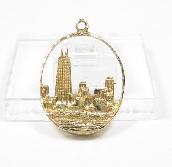 14k Gold Chicago Charm; Vintage Chicago Charm; 14k
