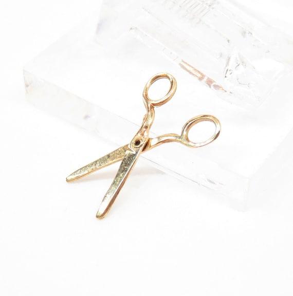 Vintage 14k Gold Scissors Charm; Antique Charm; Vi