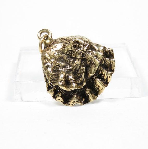 14k Gold Oyster Charm; Vintage Charm; 14k Gold Cha