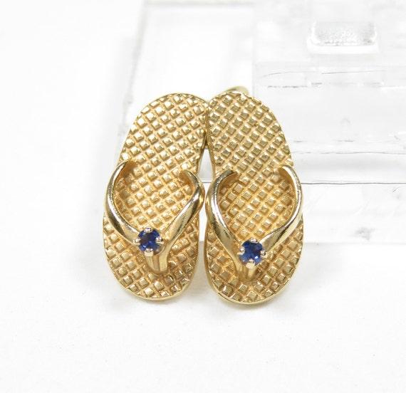 14k Gold Flip Flops Charm; Vintage Charm; 14k Gold