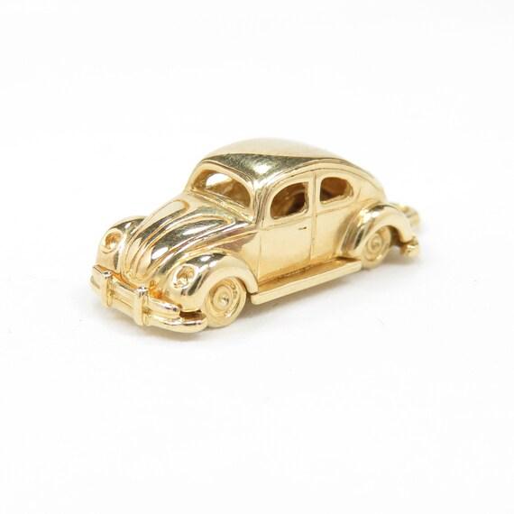 Vintage 14k Gold Volkswagen Beetle Car Charm; Art… - image 3